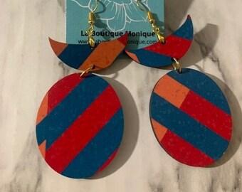 Myra Wooden Statement Earrings