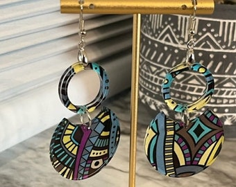 Kayla Acrylic Statement Earrings