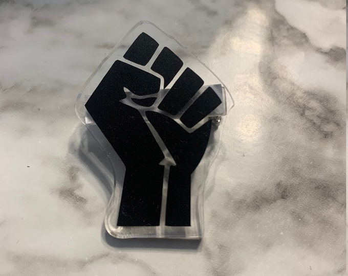 Black Power Fist Pin
