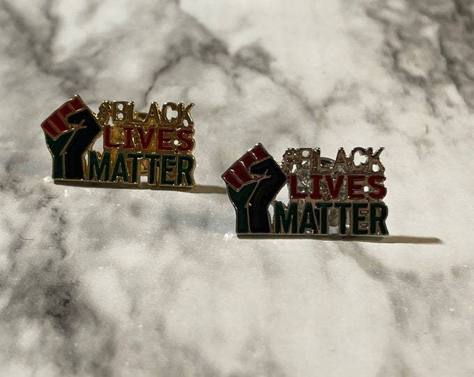 Pin, Acrylic Pin, Enamel Pin, Lapel Pin, BLM, Black Lives Matter, Peace, Afro Centric