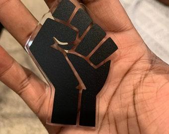 Black Power Fist Keychain