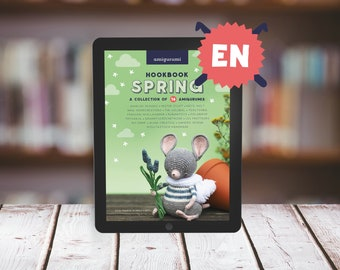 """E-BOOK: Crochet collection """"Hookbook SPRING"""" - 16 spring related Amigurumi patterns - 106 pages, instant Pdf download"""