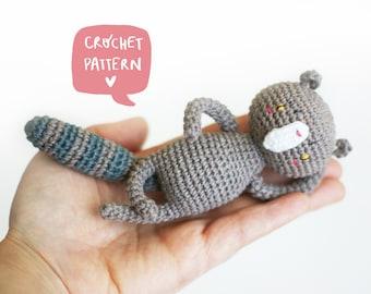 Zeus the spoiled cat pattern. Amigurumi cat pdf tutorial step by step. Crochet cat pdf pattern.