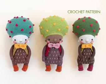 Don, the elegant tree crochet pattern. PDF amigurumi tutorial step by step. Amigurumi tree step by step: crochet tutorial with images.