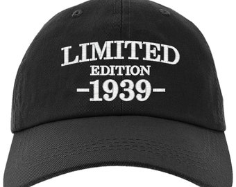Cap 80th Birthday Gift Limited Edition 1939 All Original Parts Baseball Hat