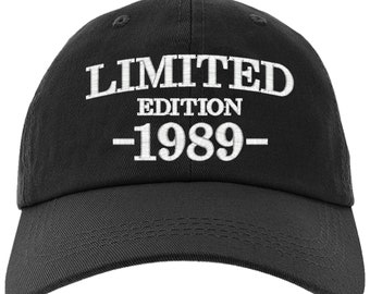 Cap 30th Birthday Gift Limited Edition 1989 All Original Parts Baseball Hat