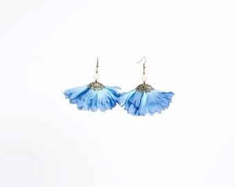 Petal Earrings in Blue