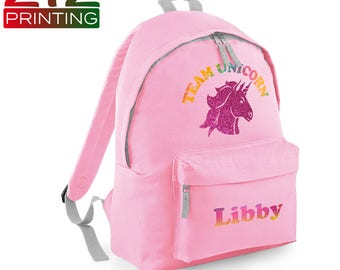 aa5694dda09a Personalised Unicorn Backpack