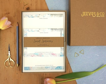 Personalised Marbled Writing Set
