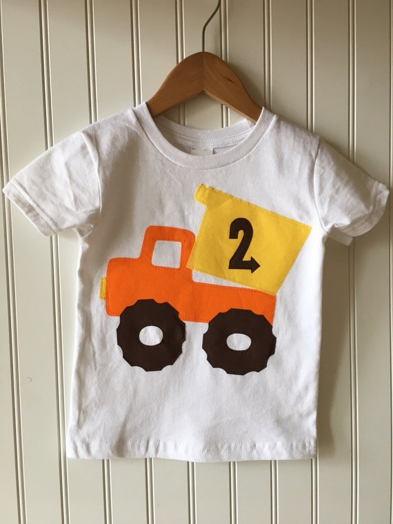 Construction 2nd Birthday Shirt Completely Customizable Dump