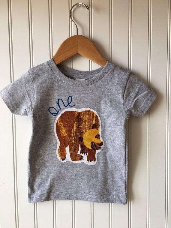 45456693 Bear birthday shirt. Wild Adventure. First birthday shirt | Etsy