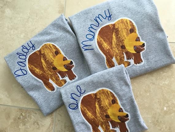 ad0e7778 Mom or Dad coordinating shirt for Bear birthday shirt. Wild | Etsy