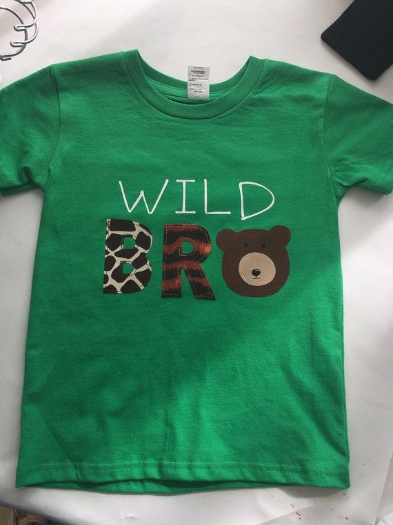 98f9152b Wild BRO Jungle Zoo themed BRO or SIS sibling tee. Jungle | Etsy
