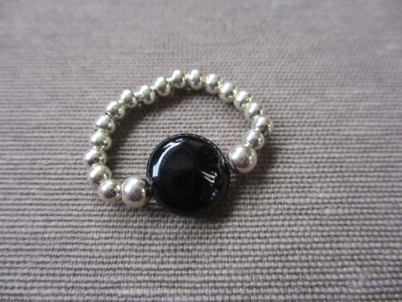 Silver Ring and Black onyx
