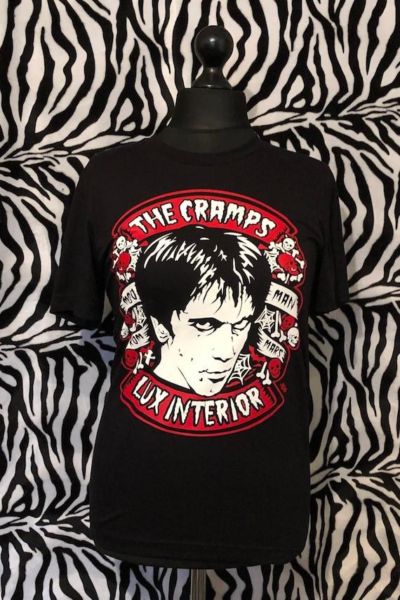The Cramps T-Shirt Vintage Style Logo Psychobilly Punk Rock Band Size S-6XL
