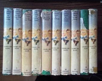 Bobbsey Twins (Eight various Grosset & Dunlap 1st Editions)