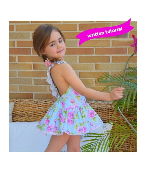 SEWING PATTERN PDF Digital Play Suit with Skirt playsuit romper baby ...