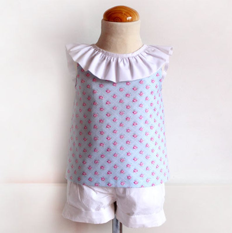 a26823ec Open Back BLOUSE with bow for baby babies toddler girls PDF   Etsy