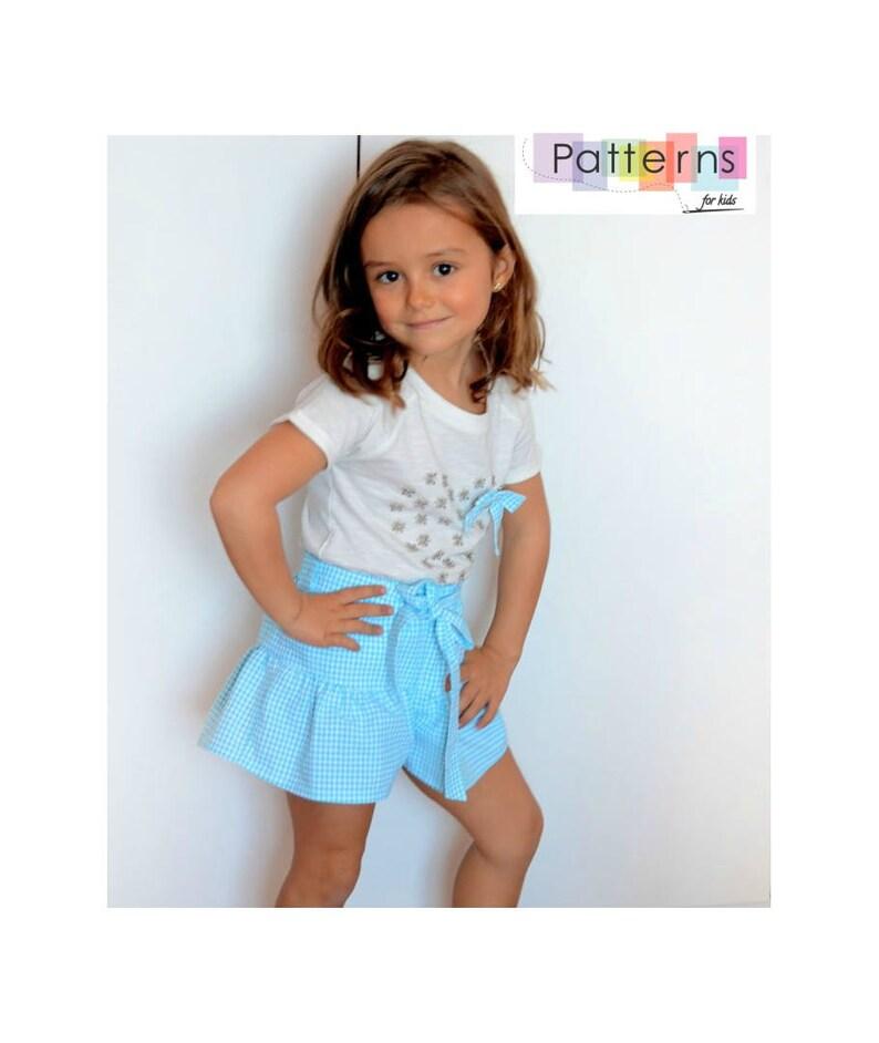 6417f1c88 Falda pantalon PATRON de Costura en PDF ** tallas de 1 a 10 años ** Bebes y  niñas Diseño español