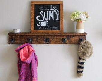 Mudroom Coat Rack with Shelf - Coat rack - Wooden Coat rack - Wooden Shelf - Coat Hanger