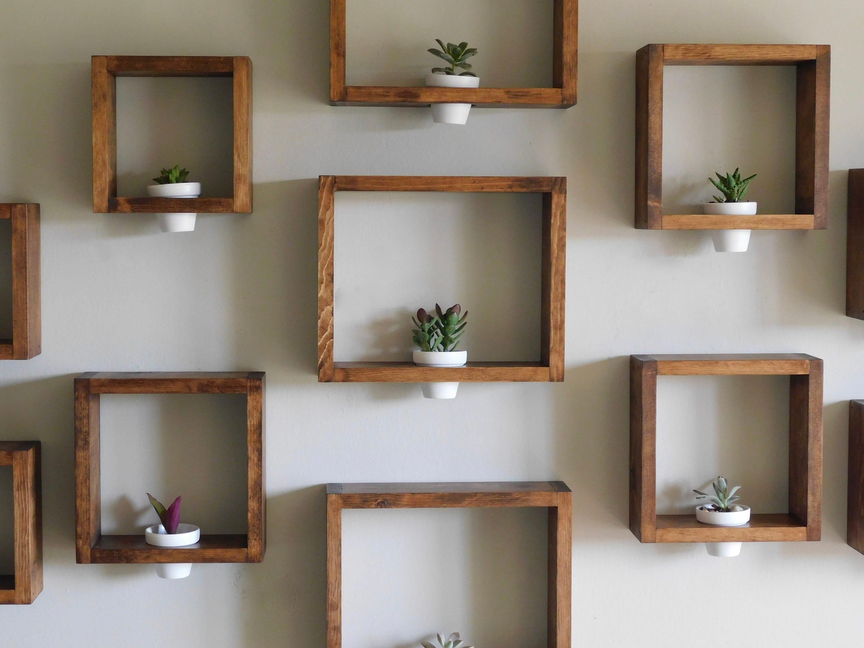 wall planter framed wall planter wooden wall planter etsy. Black Bedroom Furniture Sets. Home Design Ideas