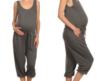 a26441a84d7a Comfy maternity romper with drawstring. Wear for casual maternity