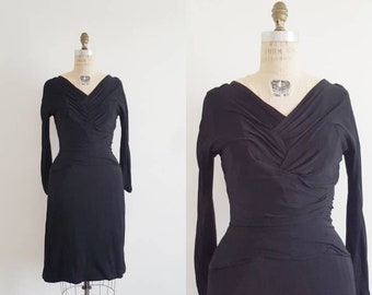 af555ef84b1 40s black dress