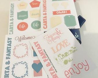 Love Vintage Planner Stickers