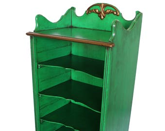 Hand-painted/ Distressed/ Up-cycled  Refinished French Provincial Shelf