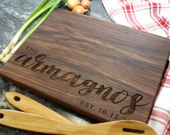 Personalized Cutting Board - Engraved Cutting Board, Custom Cutting Board, Housewarming Gift, Wedding Gift, Engagement, Anniversary (037)