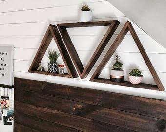 SET OF 3 - Floating Triangle Shelf, Floating Triangle Shelves, Geometric Shelf, Geometric Shelves, Floating Shelf, Floating Shelves