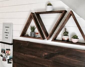 SET OF 5- Floating Triangle Shelf, Floating Triangle Shelves, Geometric Shelf, Geometric Shelves, Floating Shelf, Floating Shelves