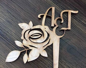 Customize Wooden Cake Topper