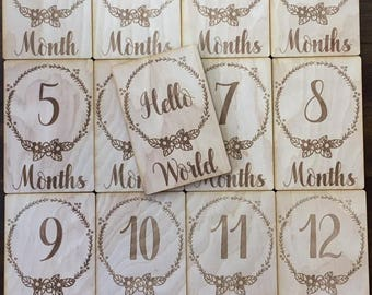 Two Fleur Baby Monthly Milestone Plaques