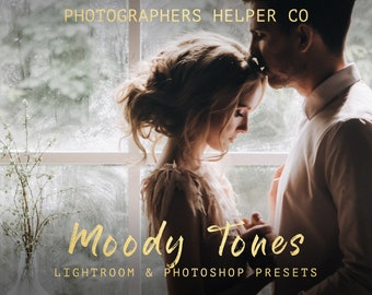 Moody Tones Wedding Lightroom Presets & Photoshop Filters Dramatic, Dark Film Style for Modern Photographers