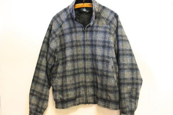Swanndri Beige /& Green Plaid Wool Outdoors Jacket XL Made in New Zealand