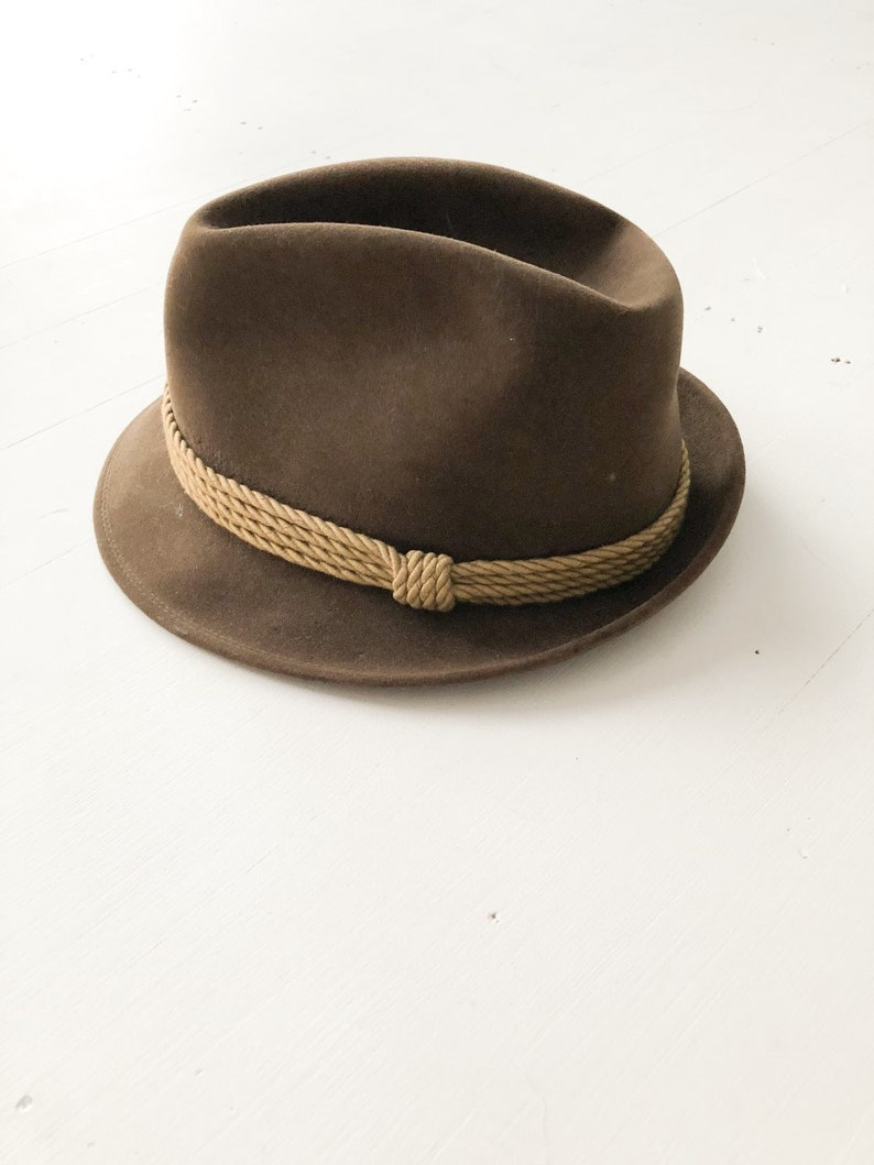 63e9a51bc0c Fisher Antelope Fedora Trilby Mens Hat Vintage Hat Fedora