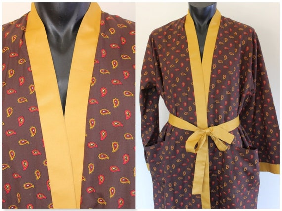 1970's Copperstone Smoking Robe, Travel Robe, Dres