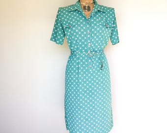 Green Vintage Dress 1970s, True Vintage, Australian Vintage, Summer Dress, Green Dress, Vintage Dress, 1970s, Vintage Clothing, New Zealand