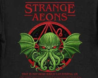 Strange Aeons - Cthulhu Shirt HP Lovecraft T-Shirt Cthulhu Tee Call of Cthulhu Shirt