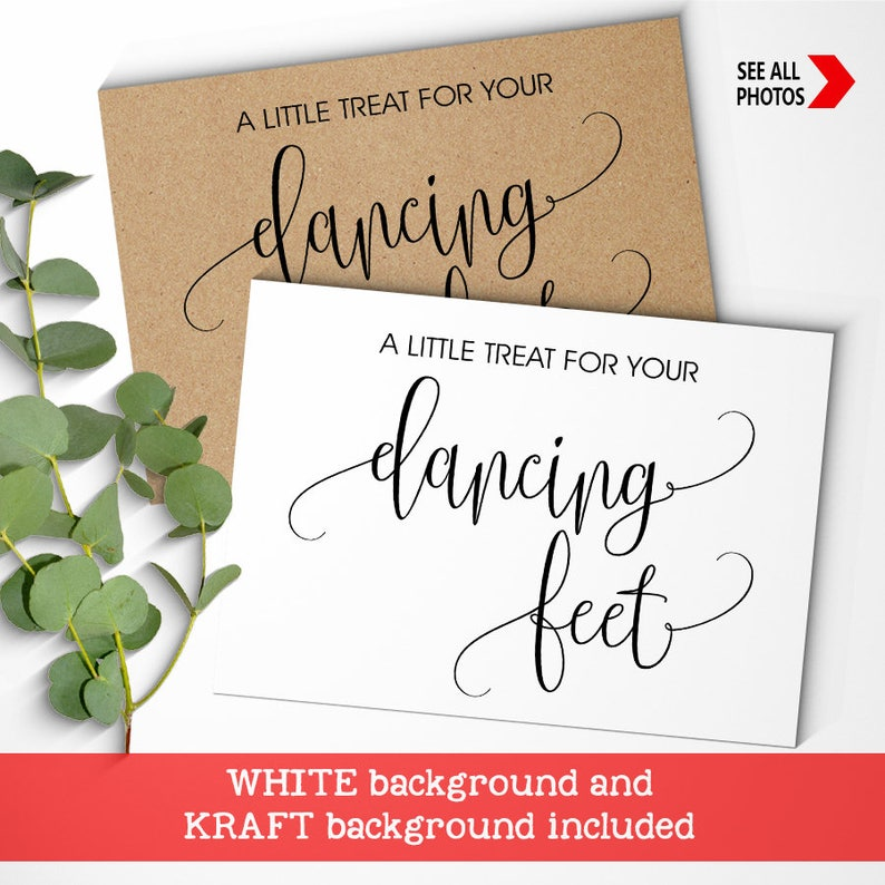 8fd0828ab Dancing Feet Sign Flip Flop basket wedding sign Treat for your