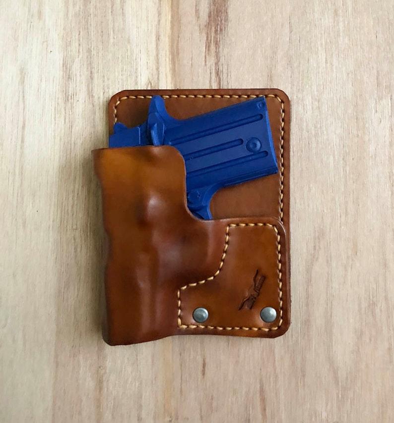 Leather Pocket Holster - Wallet Holster - Handmade & Specifically molded  for your gun model
