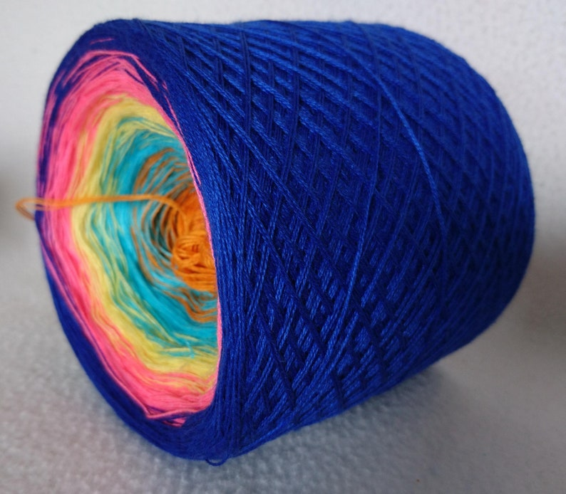Gefachtes gradient yarn Happy summer hand-wrapped from poly-cotton 3 threads art.-No. U073 5 colours