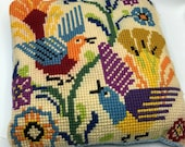 Handmade Birds of Paradise Accent Pillow