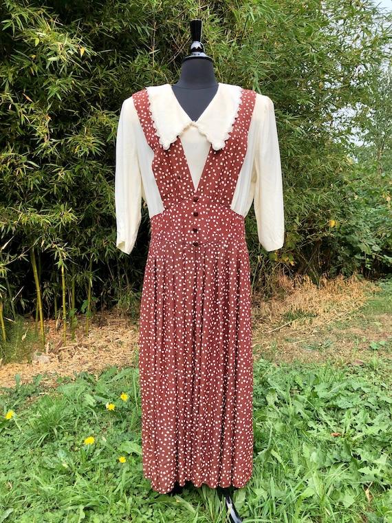 Vintage Volup 1990's Does 1940's Suspender Dress