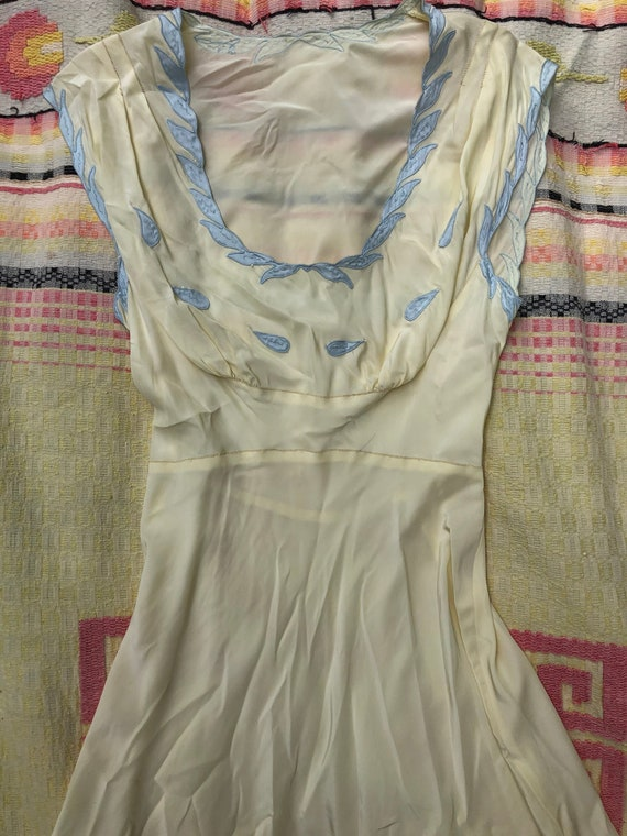 Vintage 1930's Silky Nightgown / Slip Dress with A