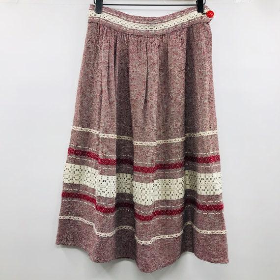 Vintage 1940's Hand Woven Skirt