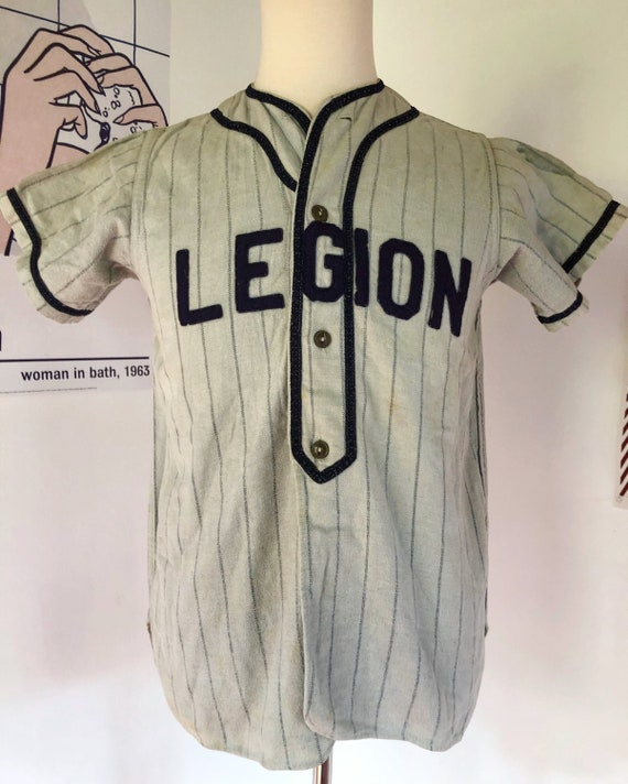 Vintage 1920's Flannel Baseball Jersey