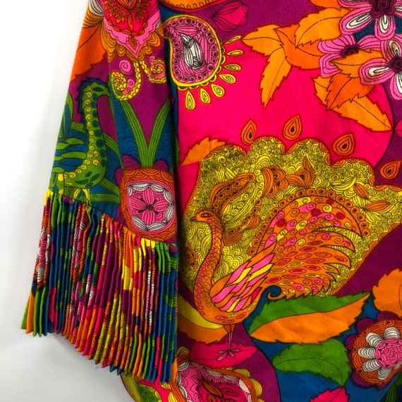 Vintage 1960's Bright Psychedelic Print Blouse - image 3