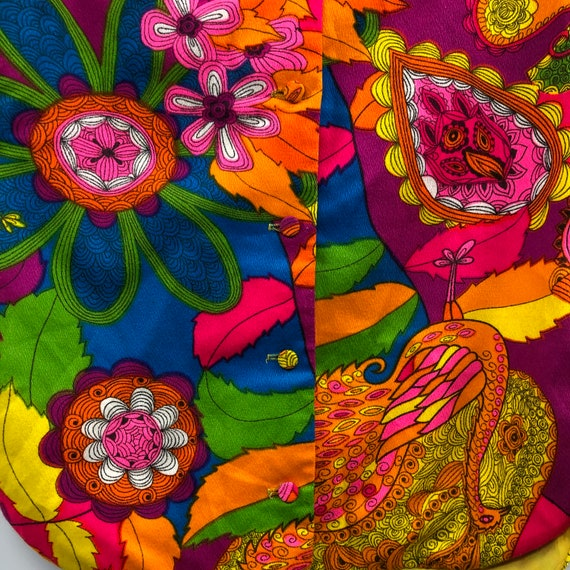 Vintage 1960's Bright Psychedelic Print Blouse - image 6